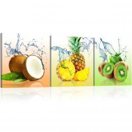 Murando DeLuxe Tøídílné obrazy - š�avnaté ovoce
