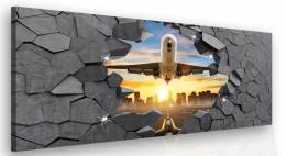 Malvis Luxusní obraz - letadlo v kameni