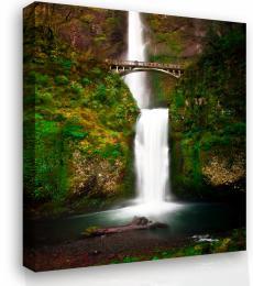 InSmile ® Obraz na plátnì - vodopád s mostem