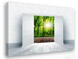 Malvis Obraz na zeï - výhled do lesa