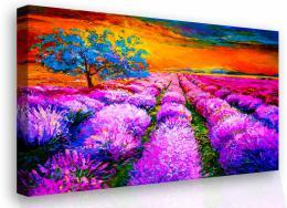 InSmile ® Malovaný obraz - levandulová louka