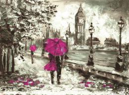 InSmile ® Malovaný obraz - procházka po Londýnì