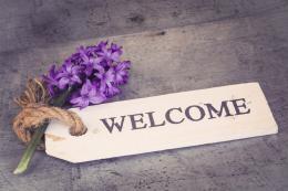 InSmile ® Obraz na plátnì - Welcome