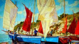 InSmile ® Malovaný obraz - plavba lodí