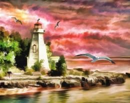 InSmile ® Malovaný obraz - maják