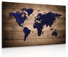InSmile ® Obraz na prknì - mapa