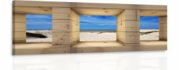 Malvis Obraz - Okno na pláž