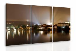 InSmile ® Vícedílný obraz - Noèní Praha