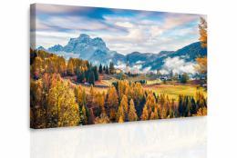 Malvis Obraz - Podzimní vesnice