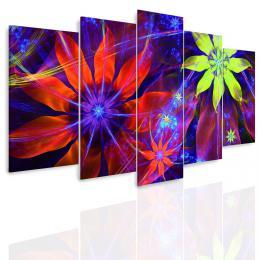 InSmile ® Vícedílný obraz - Neonové kvìty