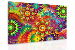 InSmile ® Vícedílný obraz - Hippie mandaly Velikost  150x100 cm