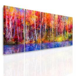 InSmile ® Vícedílný obraz - Barevný les