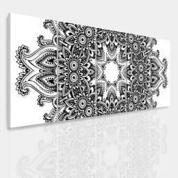 InSmile ® Vícedílný obraz - Èernobílá mandala Velikost  150x60 cm
