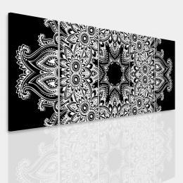 Malvis Vícedílný obraz - Èernobílá mandala II.