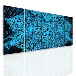 InSmile ® Vícedílný obraz - Modrá mandala v prostoru