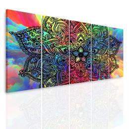 InSmile ® Vícedílný obraz - Mandala na barevných oblacích