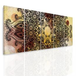 Malvis Vícedílný obraz - Mandala na akvarelu