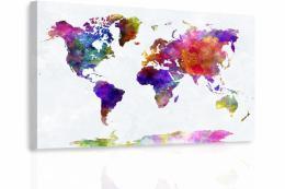 Malvis Obraz - Mapa na akvarelu