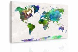 InSmile ® Obraz - Mapa na akvarelu II.