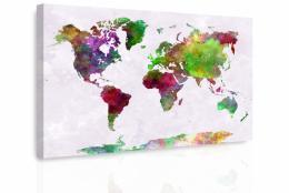 InSmile ® Obraz - Mapa na akvarelu III.