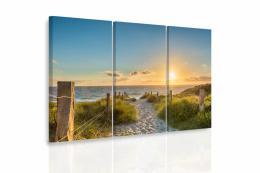 InSmile ® Vícedílný obraz - Pìšinka na pláži