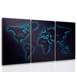 InSmile ® Tøídílný obraz mapa svìta