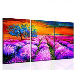 InSmile ® Tøídílný obraz malba strom
