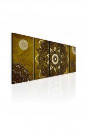InSmile ® Obraz kouzelná mandala zlatá