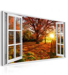 InSmile ® Obraz okno podzimní sluníèko