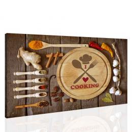 Malvis Obraz do kuchynì - I love cooking II