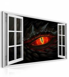 InSmile ® Obraz okno draèí oko