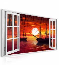 InSmile ® Obraz okno lodì na moøi