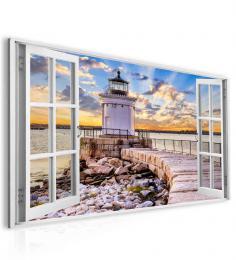 InSmile ® Obraz okno maják v Portlandu  - zvìtšit obrázek