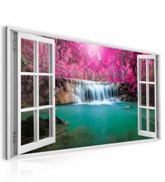 InSmile ® Obraz okno vodopád v Thajsku  - zvìtšit obrázek