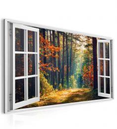 InSmile ® Obraz okno les plný barev