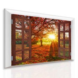 Malvis Obraz podzimní slunce za oknem