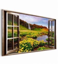 InSmile ® Obraz okno islandský vodopád  - zvìtšit obrázek