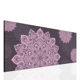 InSmile ® Mandala fialový obraz Velikost  100x40 cm