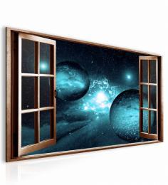 InSmile ® Obraz okno safírová galaxie