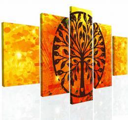 Malvis Obraz na zeï abstraktní strom IV