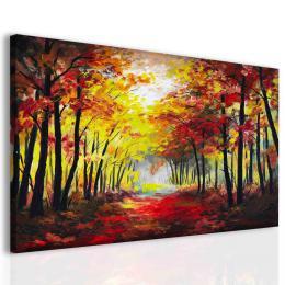 InSmile ® Obraz malba les na podzim