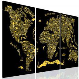 Malvis Obraz typografická mapa svìta