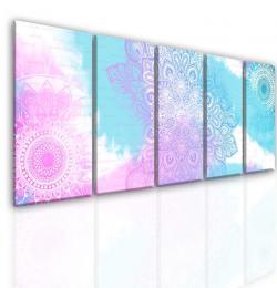 InSmile ® Mandala rùžovo modrá abstrakce