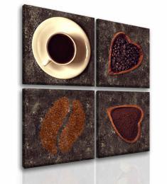Malvis Ètyødílný obraz miluji kávu