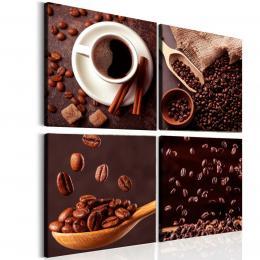 Malvis Ètyødílný obraz ranní káva