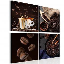 Malvis Ètyødílný obraz èerstvá káva