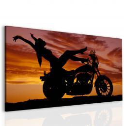 InSmile ® Sexy žena na motorce Velikost  45x30 cm