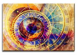 InSmile ® Obraz orloj abstrakce