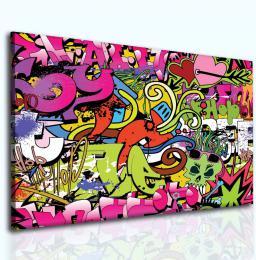 InSmile ® Obraz dívèí graffitti