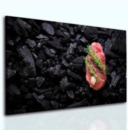 InSmile ® Obraz steak na uhlících
